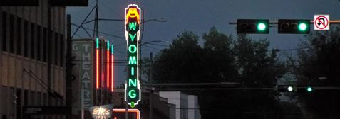 Wyoming Theatre Two Neon Lights