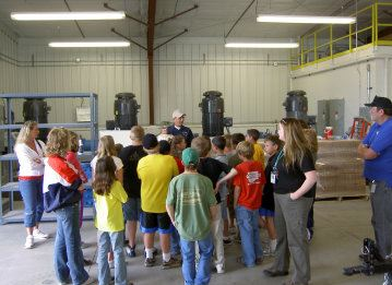Students on Water Treatment Facility Tour