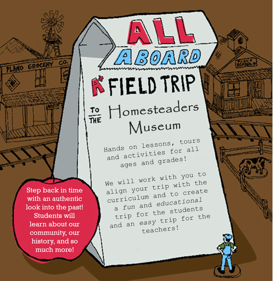 All Aboard - Field Trip to the Homesteaders Museum