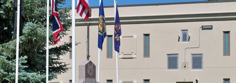 Flags Outside of the County Courthouse