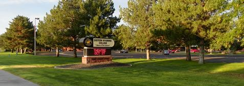 East Wyoming College Sign