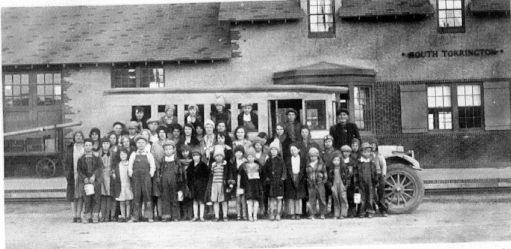school in front of Depot